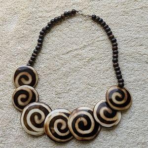 Wood tribal like necklace